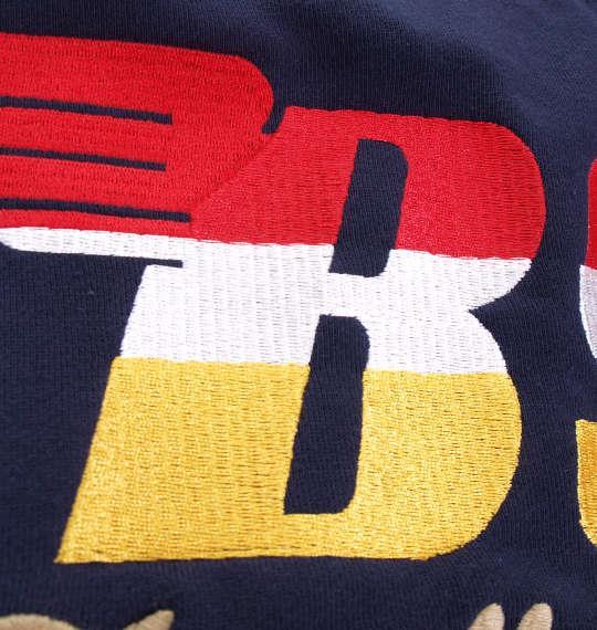 大きいサイズ メンズ BSA MOTORCYCLES 裏毛 マルチ刺繍 & プリント フルジップパーカー 長袖 パーカー ネイビー 1168-8371-1 3L 4L 5L 6L