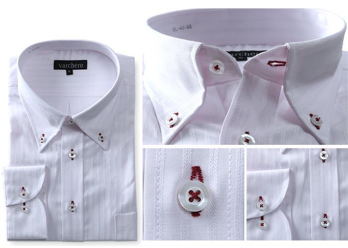 大きいサイズ メンズ VARCHERO 長袖ワイシャツ 4枚セット ボタンダウン 数量限定 秋冬新作 azn-2