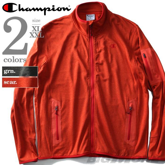 大きいサイズ メンズ Champion チャンピオン アウター フルジップ ニットジャケット USA 直輸入 ch2013ak