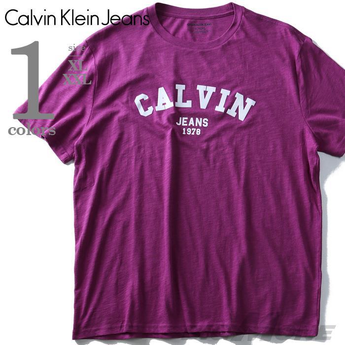 大きいサイズ メンズ CALVIN KLEIN JEANS (カルヴァンクラインジーンズ) デザイン半袖Tシャツ USA直輸入 41t7156