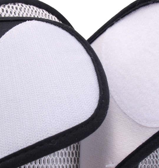 大きいサイズ メンズ ベルクロタイプ メッシュ スリッパ ブラック 1140-8360-2 3L 4L