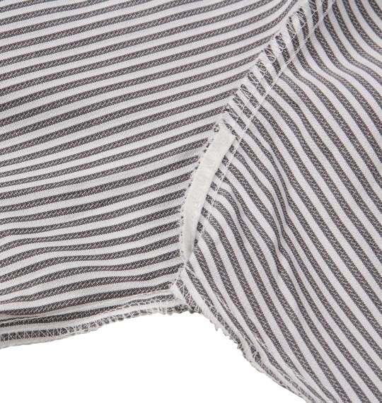 大きいサイズ メンズ HIROKO KOSHINO HOMME ドゥエB.D長袖シャツ ホワイト × チャコール 1177-8319-1 3L 4L 5L 6L 7L 8L