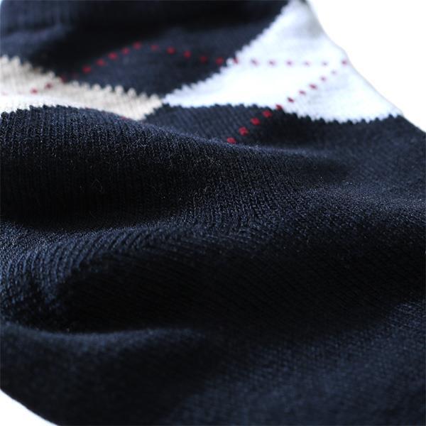 大きいサイズ メンズ DANIEL DODD ソックス 抗菌防臭 アーガイル柄 アンクルソックス 靴下 azsk-17511