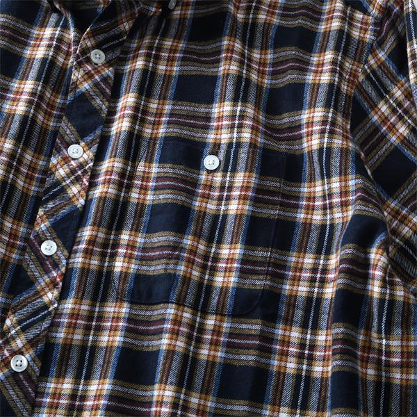 大きいサイズ メンズ DANIEL DODD シャツ 長袖 フランネル チェック ボタンダウンシャツ オーガニックコットン 秋冬 新作 azsh-180412