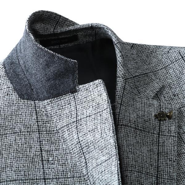 大きいサイズ メンズ SARTORIA BELLINI ウール混 2ツ釦 チェック ジャケット 秋冬 新作 azjk3218601