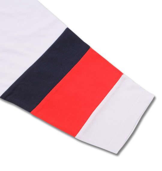 大きいサイズ メンズ PLENTY TOUGH SPORT 天竺切替長袖Tシャツ レッド × ネイビー 1178-8335-1 3L 4L 5L 6L