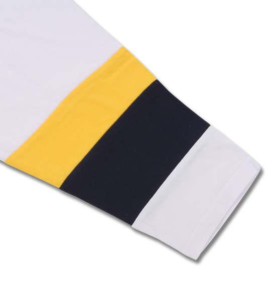 大きいサイズ メンズ PLENTY TOUGH SPORT 天竺切替長袖Tシャツ ネイビー × イエロー 1178-8335-2 3L 4L 5L 6L