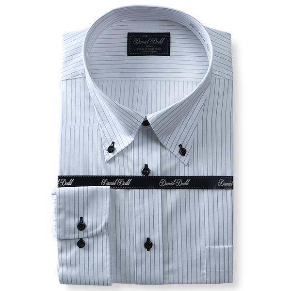 2点目半額 大きいサイズ メンズ DANIEL DODD ビジネス Yシャツ 形態安定 長袖 ワイシャツ ボタンダウン ビジネスシャツ 抗菌防臭 eadn84-77