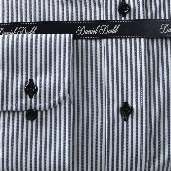 2点目半額 大きいサイズ メンズ DANIEL DODD 形態安定 長袖ワイシャツ ボタンダウン ストレッチ 秋冬新作 eadn85-76
