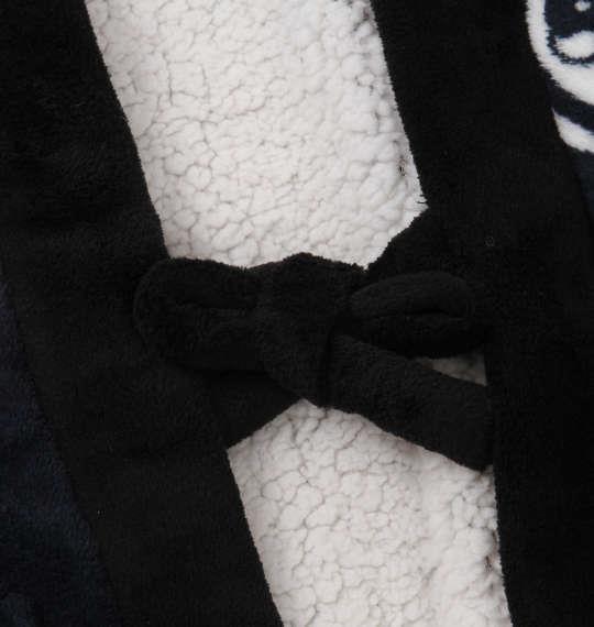 大きいサイズ メンズ 黒柴印和んこ堂 総柄 ボアドテラ はんてん ネイビー 1158-8384-1 3L 5L
