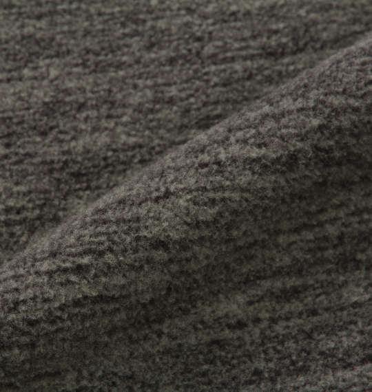 大きいサイズ メンズ Phiten 流し杢フリースクルートレーナー グレー 1178-8620-1 3L 4L 5L 6L 8L