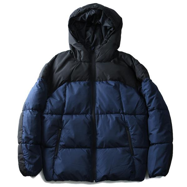 大きいサイズ メンズ ALASKO ブルゾン ジャケット アウター 中綿 切替 フーデッドブルゾン 39328