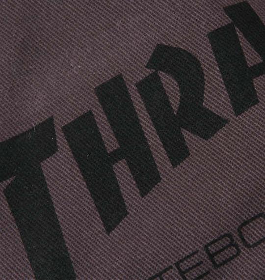 大きいサイズ メンズ THRASHER 長袖ワークシャツ チャコール 1177-8320-1 3L 4L 5L 6L 8L