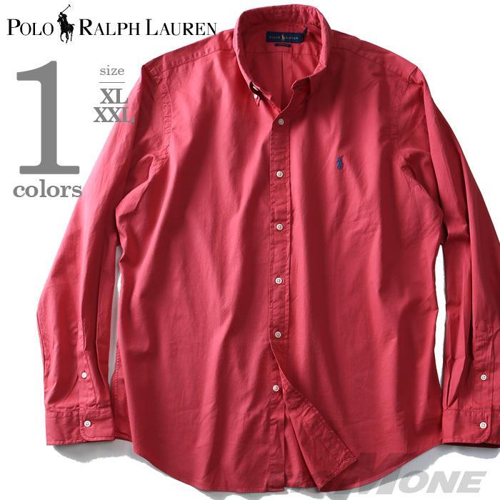 大きいサイズ メンズ POLO RALPH LAUREN ポロ ラルフローレン 長袖 シャツ ボタンダウンシャツ 長袖シャツ カジュアルシャツ レッド XL XXL USA 直輸入 710718717001