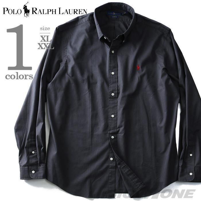 大きいサイズ メンズ POLO RALPH LAUREN ポロ ラルフローレン 長袖 シャツ ボタンダウンシャツ 長袖シャツ カジュアルシャツ ブラック XL XXL USA 直輸入 710718717005