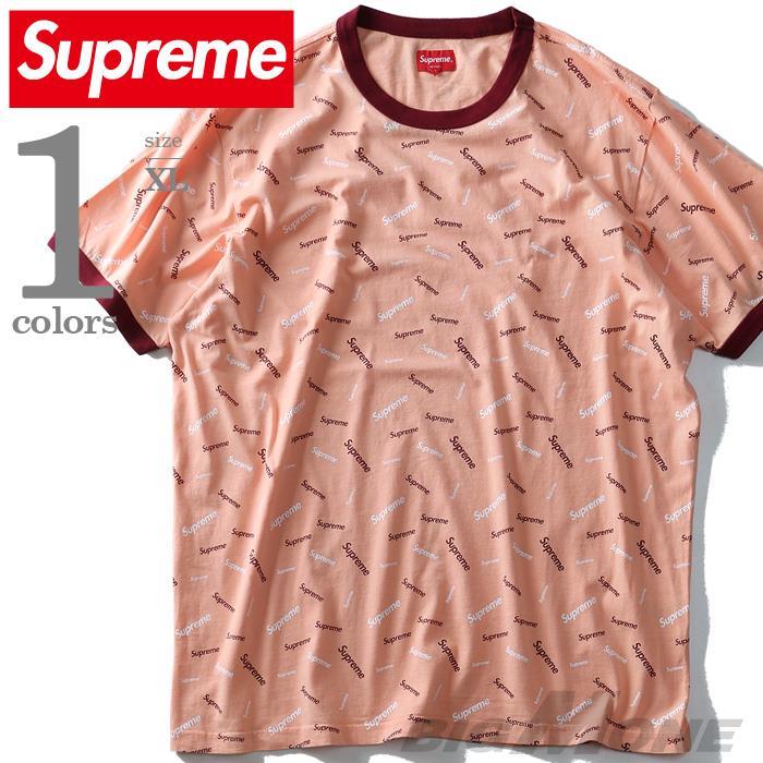 大きいサイズ メンズ SUPREME シュプリーム 総柄 半袖 Tシャツ USA 直輸入 fw18kn17