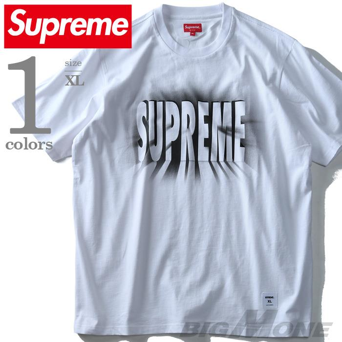 大きいサイズ メンズ SUPREM Eシュプリーム ロゴプリント半袖Tシャツ USA直輸入 fw18kn62