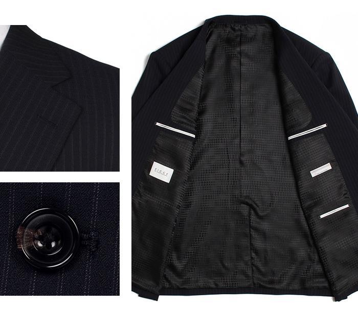 大きいサイズ メンズ FICCE 2ツ釦スーツ 日本製 ビジネススーツ スーツ リクルートスーツ 上下セット 184202