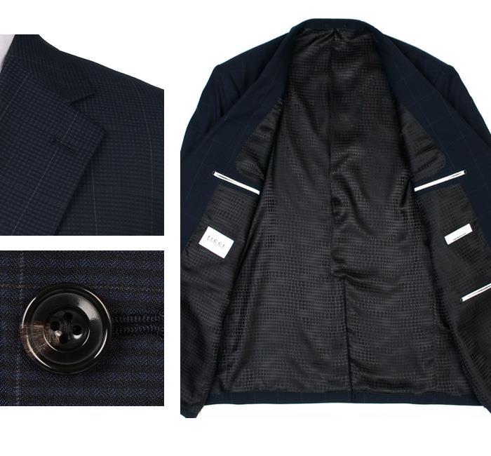 大きいサイズ メンズ FICCE 2ツ釦スーツ 日本製 ビジネススーツ スーツ リクルートスーツ 上下セット 184203