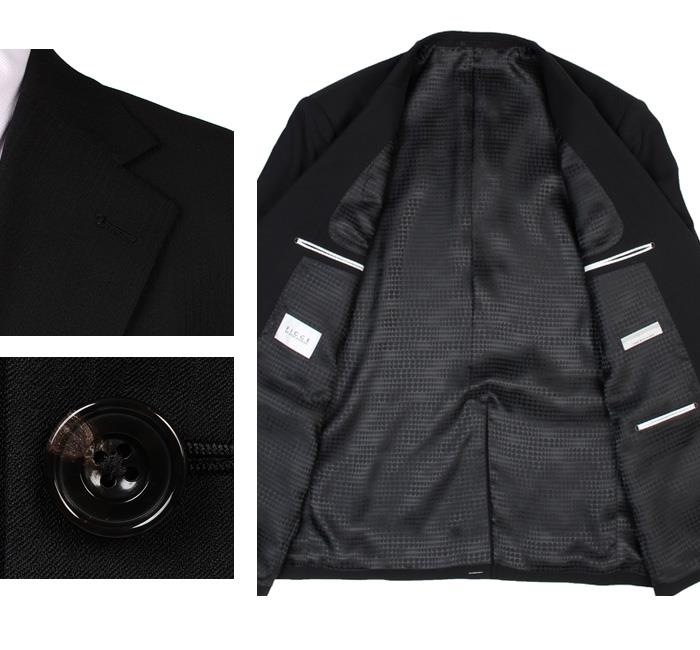 大きいサイズ メンズ FICCE 2ツ釦スーツ 日本製 ビジネススーツ スーツ リクルートスーツ 上下セット