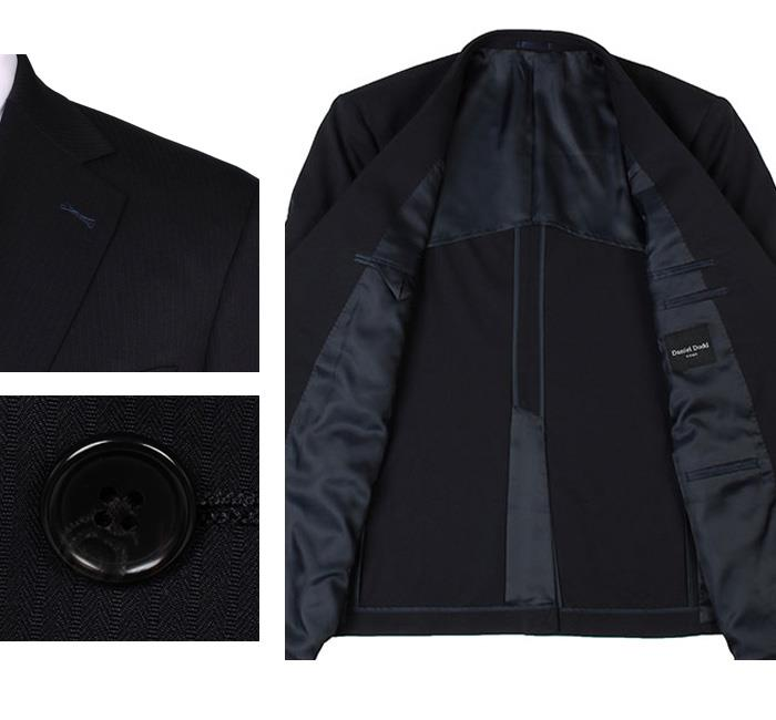 大きいサイズ メンズ DANIEL DODD マイクロファイバーストレッチ2ツ釦ツーパンツスーツ (ビジネススーツ スーツ リクルートスーツ) az46tpp3538