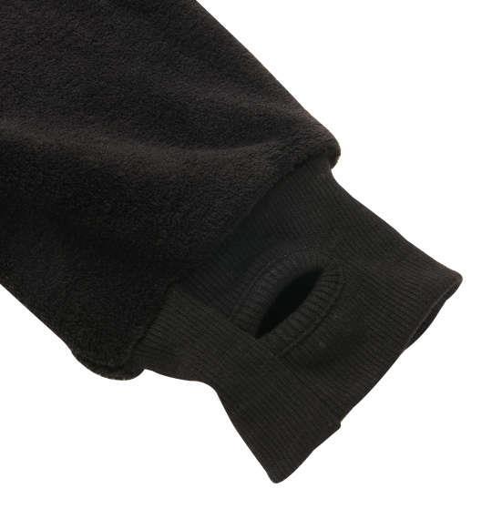 大きいサイズ メンズ NECOBUCHI-SAN 両面 ボア 猫渕なりきり フルジップパーカー 長袖 パーカー フード ブラック 1158-8610-2 3L 4L 5L 6L