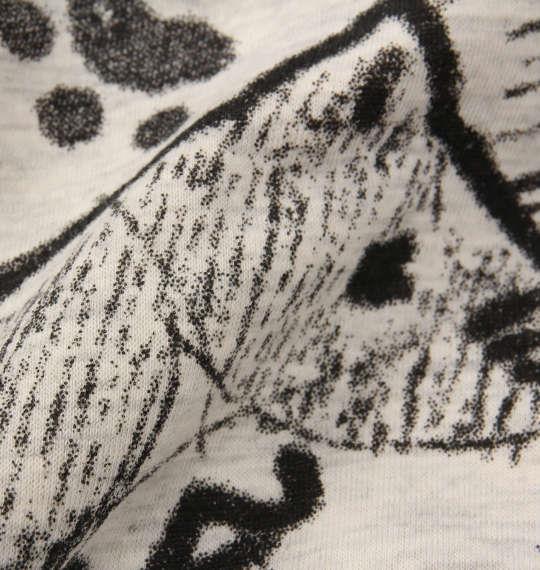 大きいサイズ メンズ NECOBUCHI-SAN 裏ボア ネコ耳付 総柄 フルジップパーカー 長袖 パーカー フード オートミール 1158-8611-1 3L 4L 5L 6L