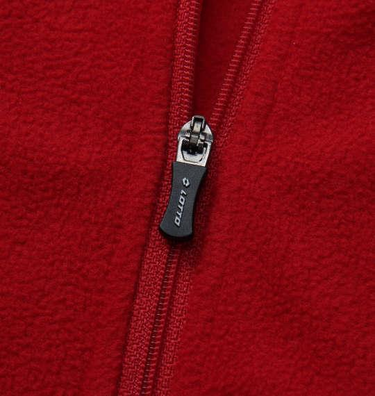 大きいサイズ メンズ LOTTO ハーフジップマイクロフリース レッド 1178-8345-3 3L 4L 5L 6L