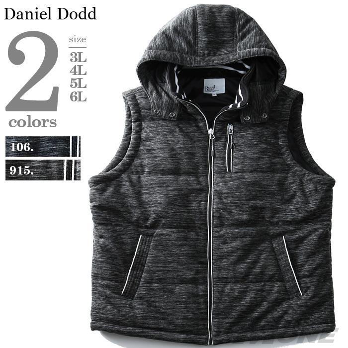 大きいサイズ メンズ DANIEL DODD 杢柄 ポンチ 中綿ベスト azb-1378
