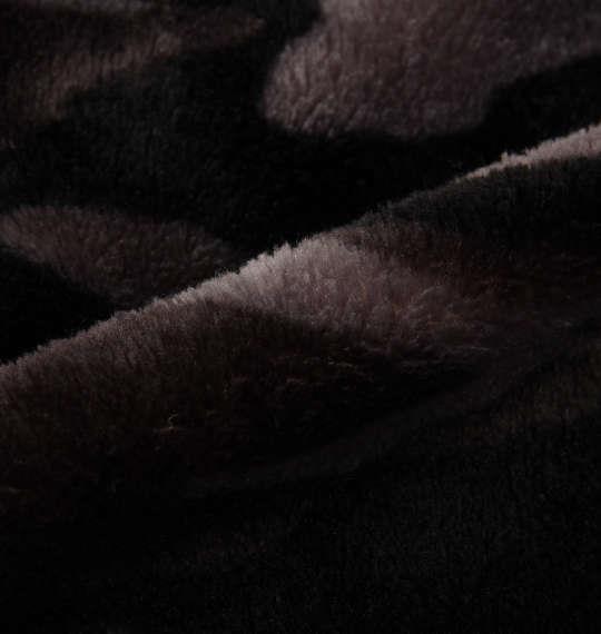 大きいサイズ メンズ OUTDOOR PRODUCTS シルキー フリース フルジップパーカー 長袖 パーカー ブラック系カモフラ柄 1158-8354-3 3L 4L 5L 6L 8L