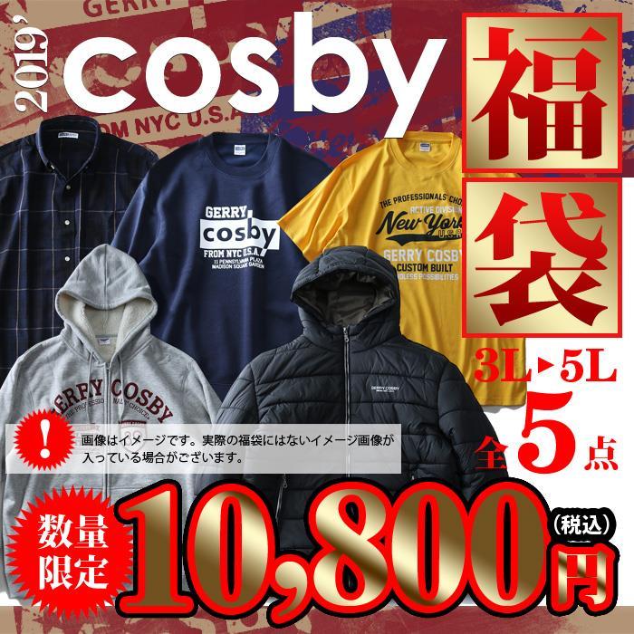 先行予約販売 大きいサイズ メンズ 3L 4L 5L cosby 2019年 福袋 (アウター パーカー トレーナー 長袖シャツ 半袖Tシャツ) 数量限定 8560-7411