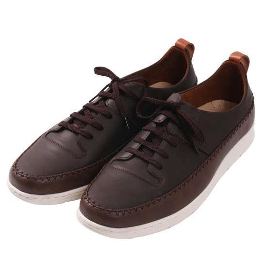 大きいサイズ メンズ シューズ 靴 BCR ステッチ デザインシューズ ブラウン 1140-8310-1 30 31