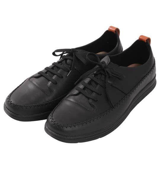 大きいサイズ メンズ シューズ 靴 BCR ステッチ デザインシューズ ブラック 1140-8310-2 30 31