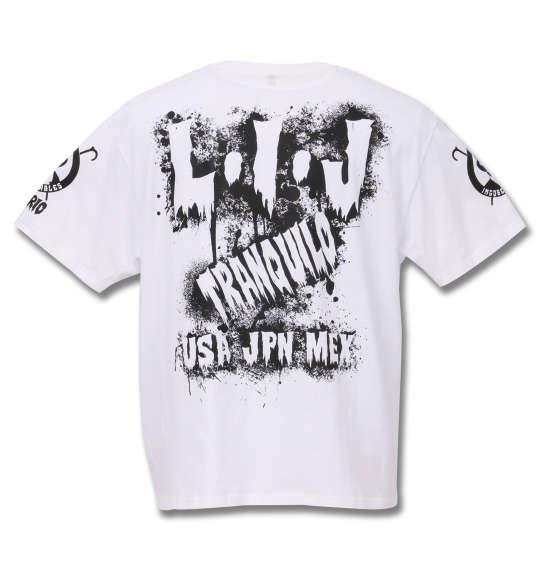大きいサイズ メンズ 新日本プロレス BUSHI × L I J「MIST」半袖Tシャツ ブラック × ホワイト 1178-8376-1 3L 4L 5L 6L 8L