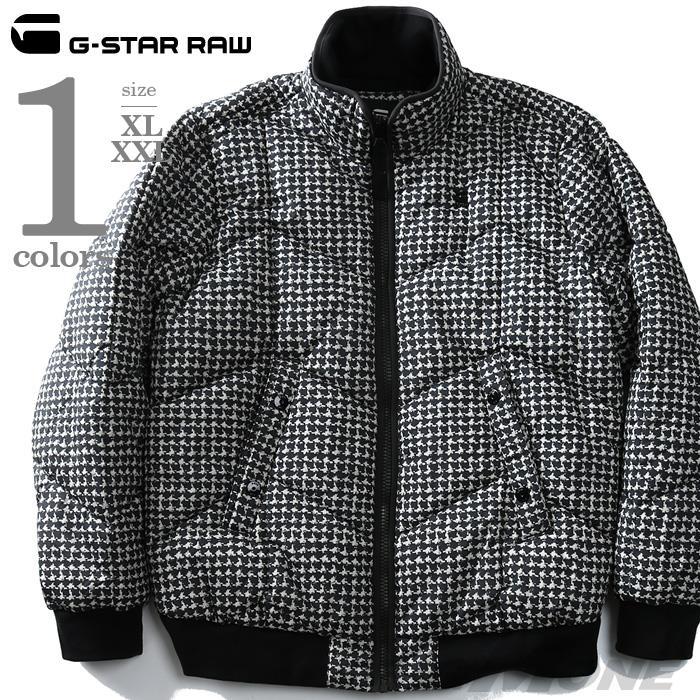 大きいサイズ メンズ G-STAR RAW ジースターロウ 総柄プリント中綿ブルゾン d10695-a557