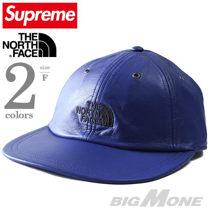 メンズ SUPREME × THE NORTH FACE シュプリーム × ノースフェイス レザー キャップ USA 直輸入 fw18h1