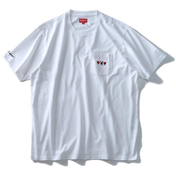 大きいサイズ メンズ SUPREME シュプリーム ポケット付 半袖 Tシャツ PLAYBOY USA 直輸入 fw18kn59