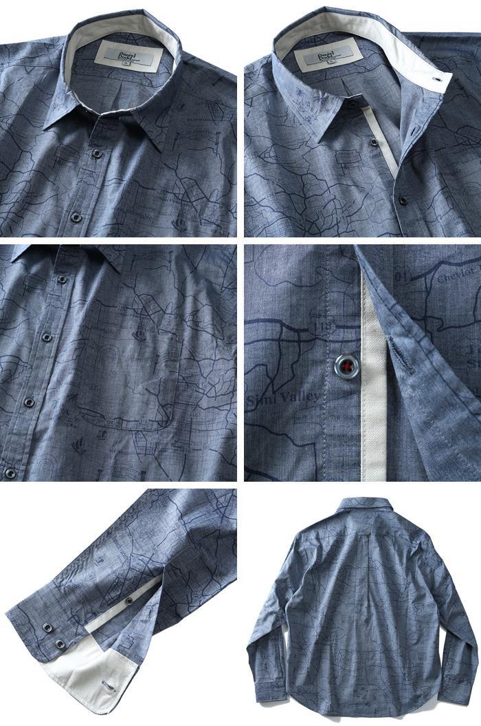 大きいサイズ メンズ DANIEL DODD シャツ 長袖 プリント レギュラーシャツ 春夏 新作 azsh-190117