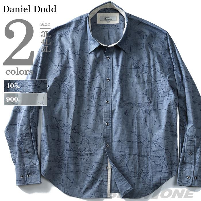 大きいサイズ メンズ DANIEL DODD シャツ 長袖 プリント レギュラーシャツ azsh-190117
