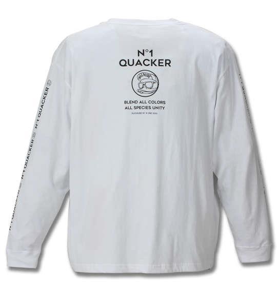 大きいサイズ メンズ b-one-soul DUCK DUDE 長袖 Tシャツ 長袖Tシャツ ホワイト 1158-9100-1 3L 4L 5L 6L