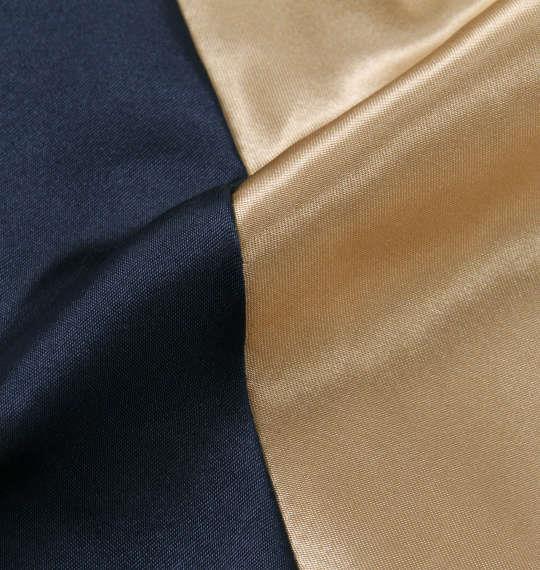 大きいサイズ メンズ FLAGSTAFF × PEANUTS スヌーピー コラボ スカジャン ネイビー × ゴールド 1173-9120-1 3L 4L 5L 6L