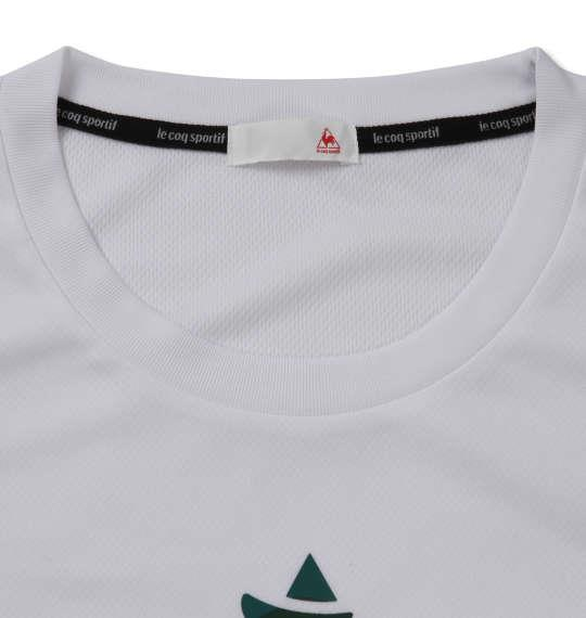 大きいサイズ メンズ LE COQ SPORTIF ボックス メッシュ ニット 半袖 Tシャツ ホワイト 1178-9100-1 2L 3L 4L 5L 6L