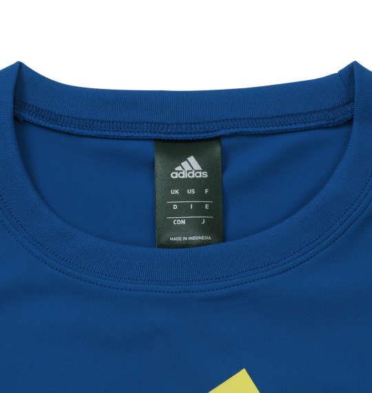 大きいサイズ メンズ adidas ビッグロゴ 半袖 Tシャツ ネイビー × ロイヤル 1178-9150-1 3XO 4XO 5XO 6XO 7XO 8XO