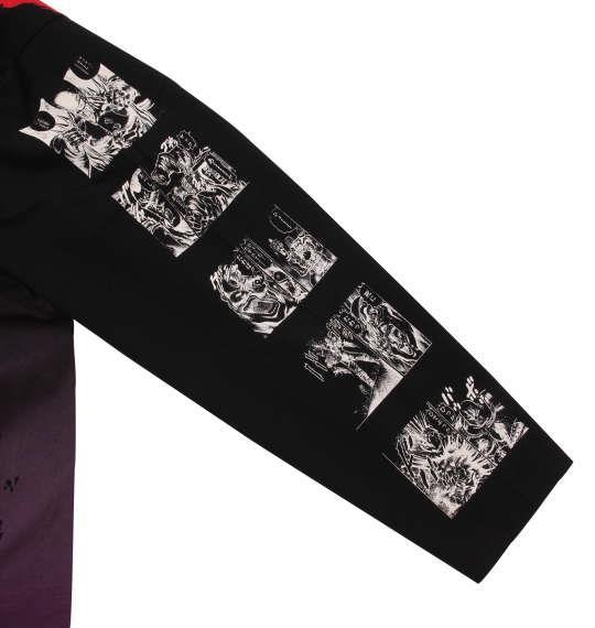 大きいサイズ メンズ 絡繰魂 × 北斗の拳 世紀末雑魚死に様 長袖 Tシャツ ブラック 1178-9160-1 3L 4L 5L 6L