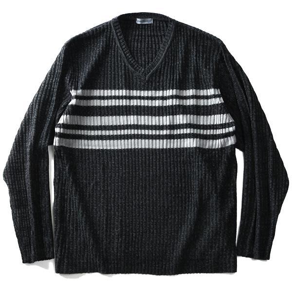 大きいサイズ メンズ Louis Chavlon Vネック セーター 2019fk-bara f19-013