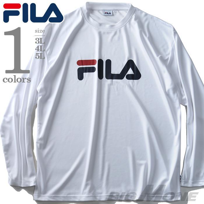大きいサイズ メンズ FILA プリント 長袖 Tシャツ 2019fk-bara f19-022
