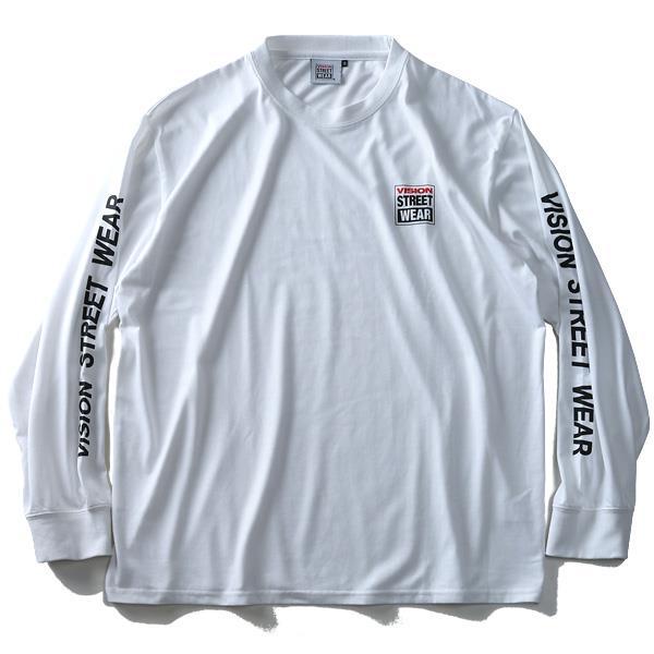 大きいサイズ メンズ VISION STREET WEAR プリント 長袖 Tシャツ 2019fk-bara f19-027