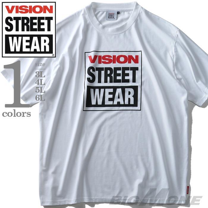 大きいサイズ メンズ VISION STREET WEAR プリント 半袖 Tシャツ 2019fk-bara f19-028