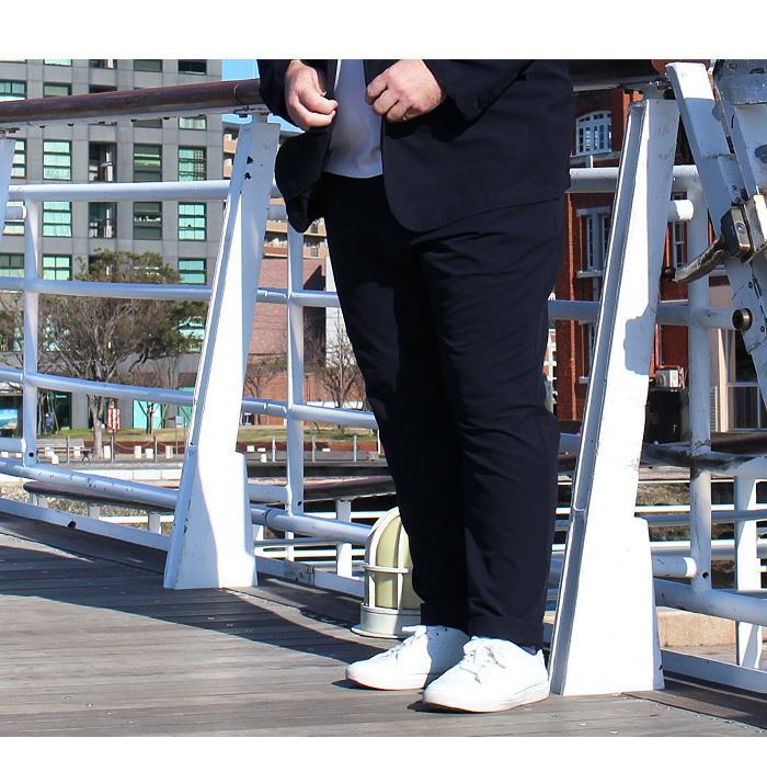大きいサイズ メンズ LINKATION シアサッカー セットアップ パンツ ストレッチ アスレジャー スポーツウェア lasl3619309