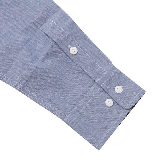 大きいサイズ メンズ OUTDOOR PRODUCTS 綿麻 ロールアップ 長袖 ワーク シャツ ネイビー 1157-9110-2 3L 4L 5L 6L 8L